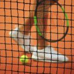 Une joueuse de tennis sur terre battue.