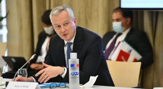Le ministre de l'Economie Bruno Le Maire en conférence de presse.